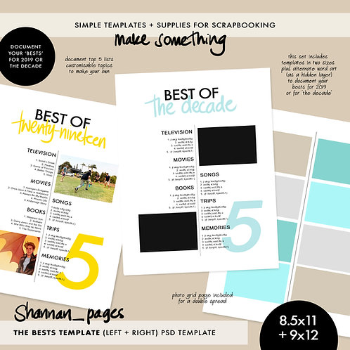 'Best Of' psd template (9x12 and 8.5x11 sizes)
