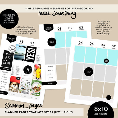 Planner Template - Double Spread (8x10)