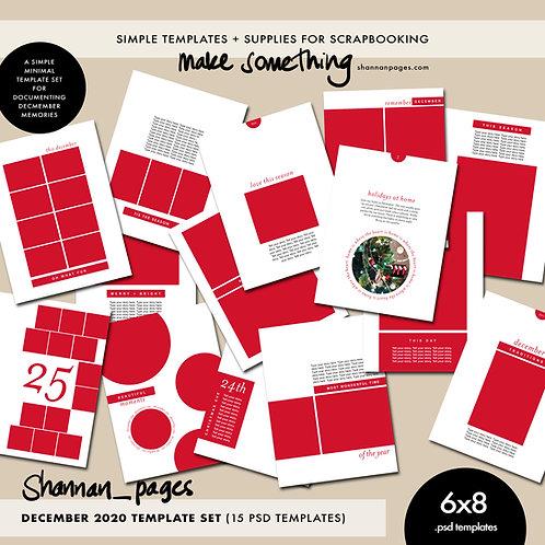 December/Christmas Templates (15 6x8 layered PSD templates )