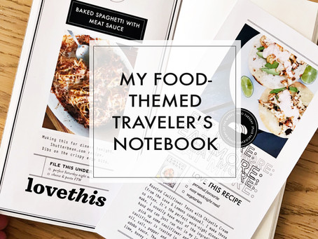 My Food-Themed Traveler's Notebook