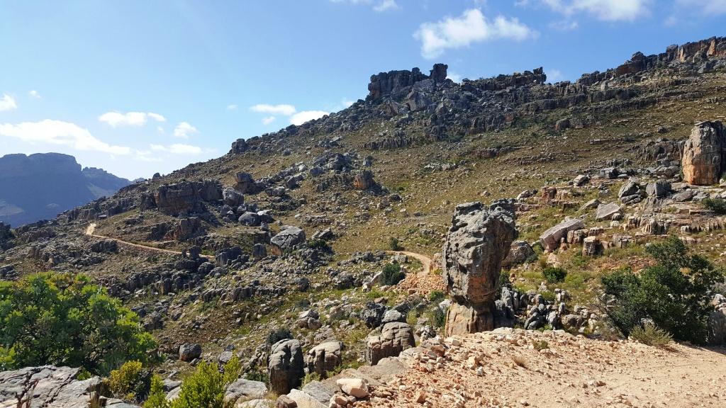 Winding rocky road