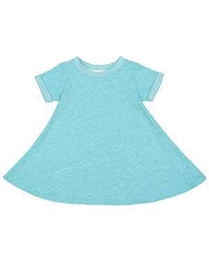 Rabbit Skins Toddler Harborside Mélange French Terry Twirl Dress