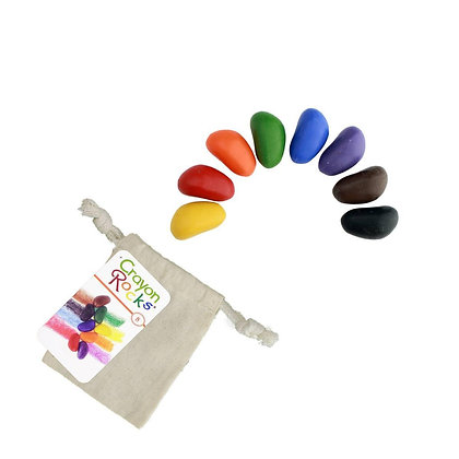 Crayon Rocks – 8 Colors in a Muslin Bag Made in USA