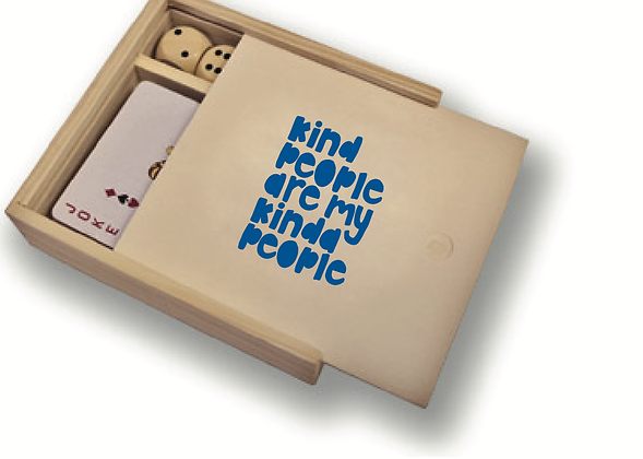 Wooden Game Box; kind people are my kinda people