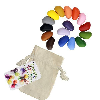 Crayon Rocks – 16 Colors in a Muslin Bag Made in USA