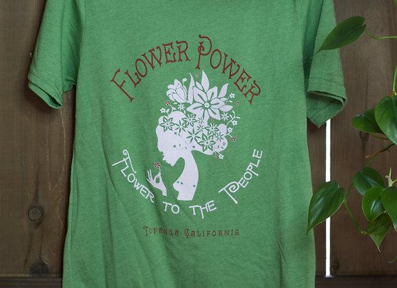Green Flower Power T-Shirt