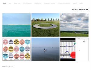 Screenshot of the homepage