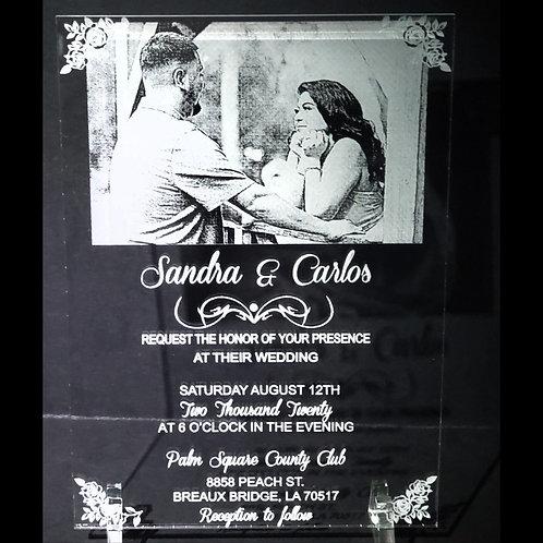 Acrylic Photo Invitations