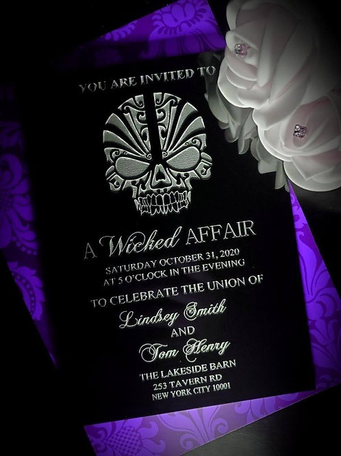 Black Acrylic Invitations