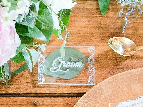 Acrylic Place Cards (Escort Cards)