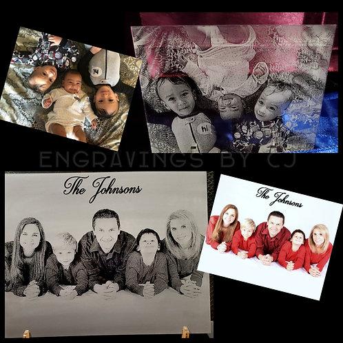 Engraved Acrylic Photos