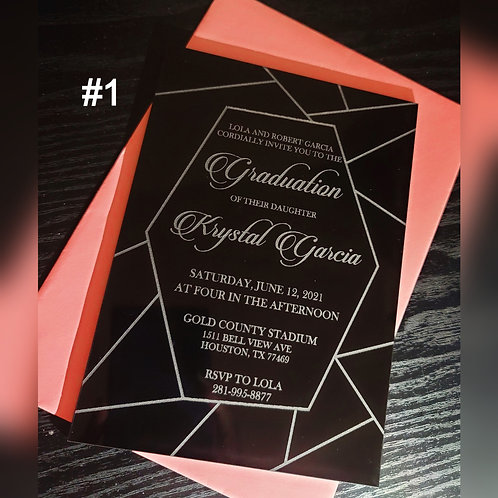 Acrylic Graduation Invitations