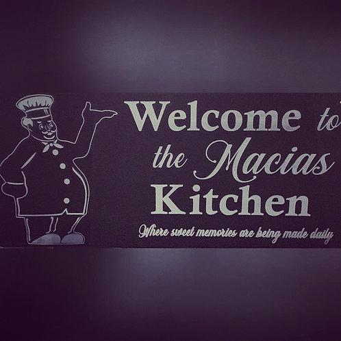 Custom Kitchen Sign (Acrylic)