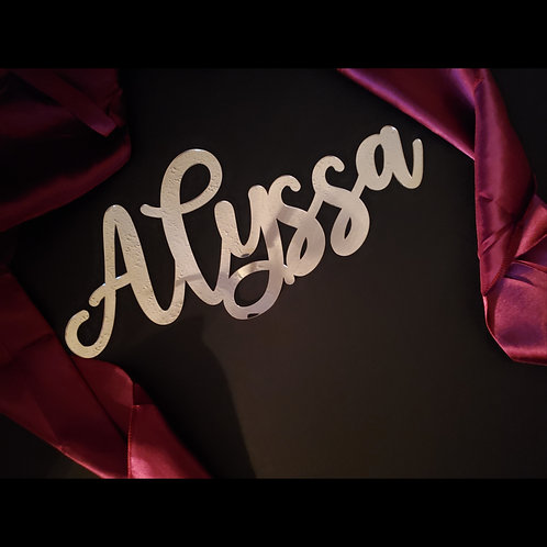 Mirrored Calligraphy Name Signs