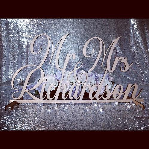 Mr & Mrs Surname Sign