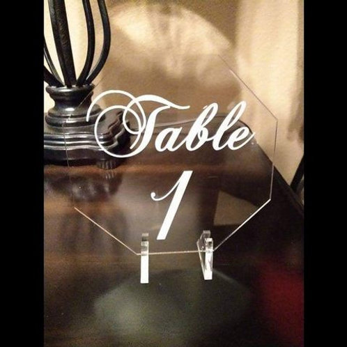 Acrylic Table Number with stands
