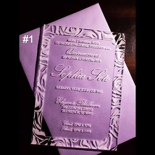 Quince & Sweet 16 Invitations