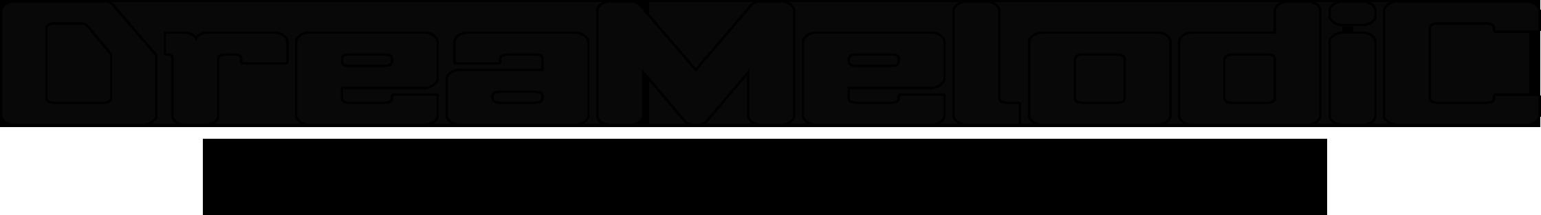 לוגו שחור DreaMelodiC New Font Logo 2016
