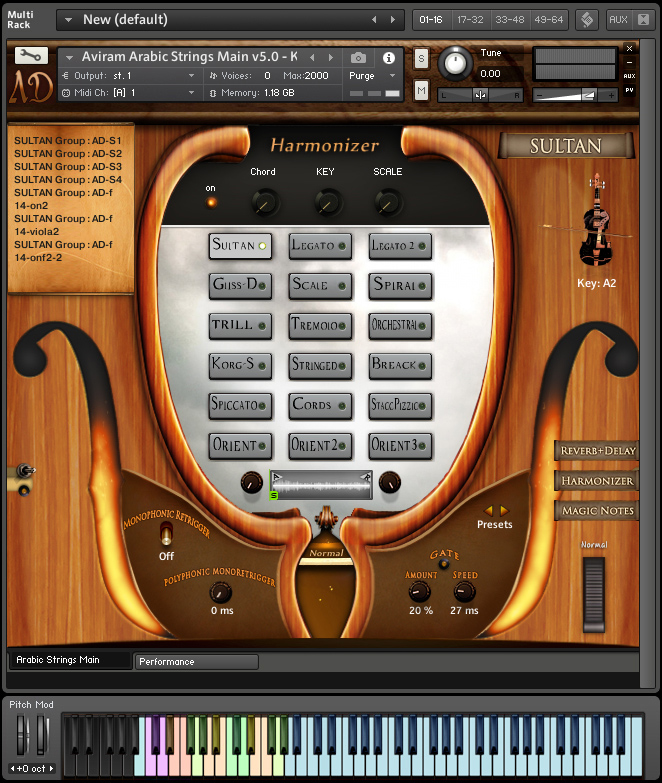 Harmonizer Tab