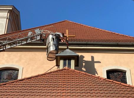 Drobne prace remontowe przy kościele i plebanii