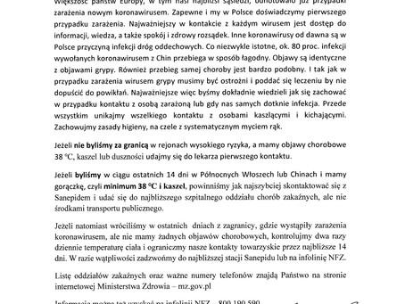 Pismo Ministra Zdrowia