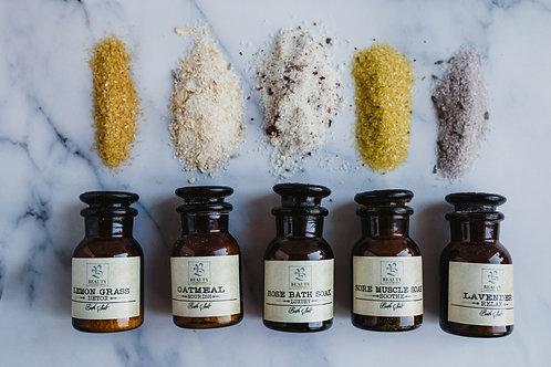 HANDCRAFTED LUXURY BATH SALTS SET (Mini Size 1oz)