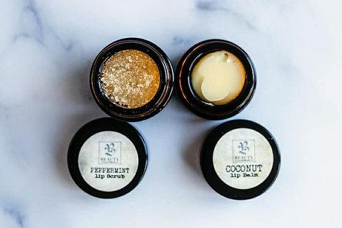 LIP DUO - Peppermint Lip Scrub & Coconut Lip Balm