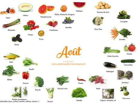 Cuisinez de saison ! Découvrez les fruits & légumes du mois d'Août