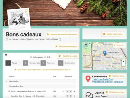 Fêtes 🎄: les bons cadeaux sont disponibles en ligne ! 🎁
