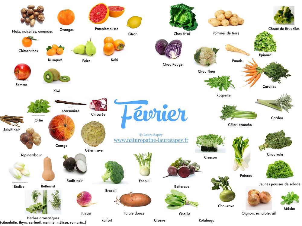 Laure Sapey - Naturopathe Lyon Vileurbanne | Fruits et Légumes de saison du mois de février