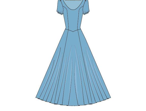 196723 Variatie klassieke Assepoester jurk