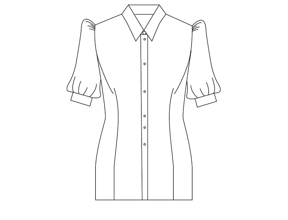 166390 * Blouse Takashiro Chidori school uniform.