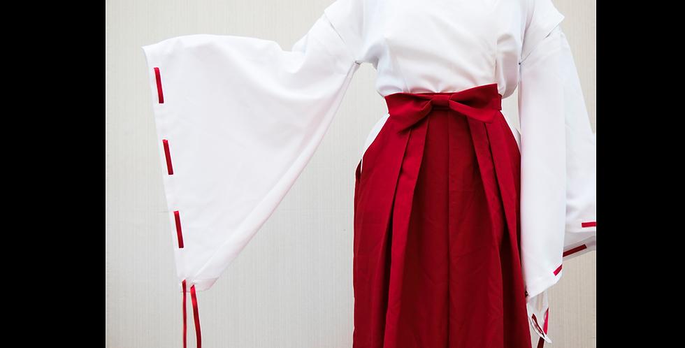 125980 ** Red/White Priestess Kikyo outfit