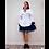 Thumbnail: 136035 * Zwart witte Maiden jurk met bolero.