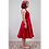 Thumbnail: 125801 ** Red dress with Ruffle.