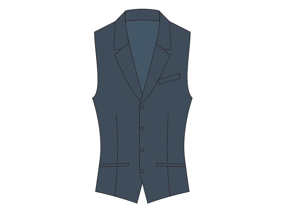 166395 ** Men's vest Miles Edgeworth