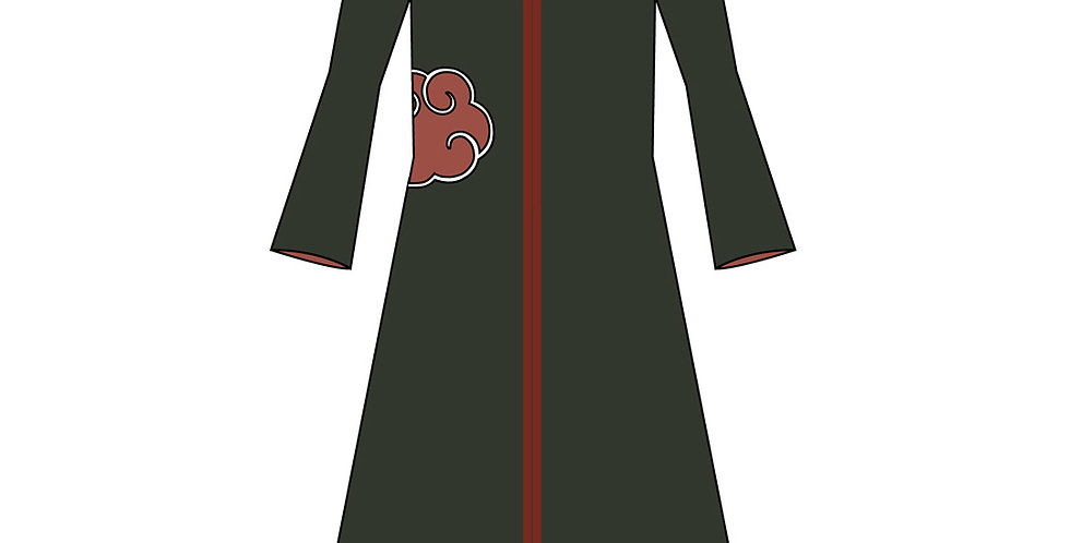 176564 ** Kinder jas kraag Akatsuki Naruto.