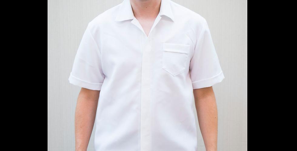 136008 * Men school uniform Blouse Bleach
