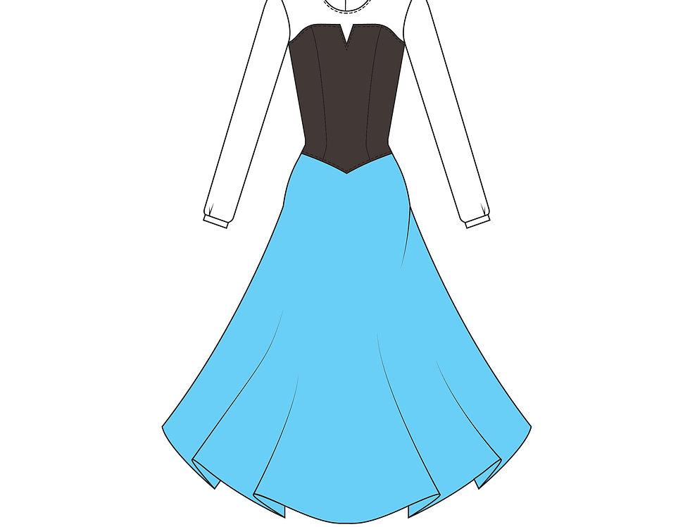 196704 ** Ariel Blue dress Disney Princess.