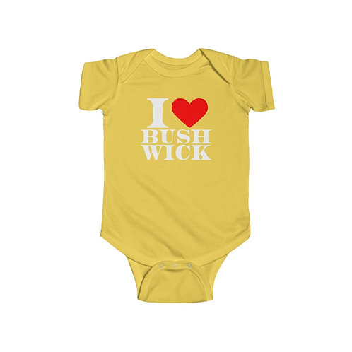Baby Onesie - I Heart Bushwick Logo