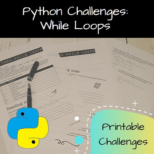 While Loops Printable Challenges