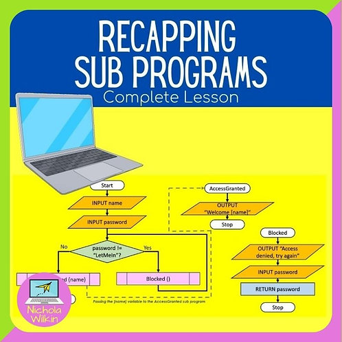 GCSE Recapping Sub Programs