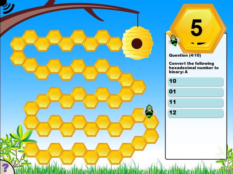 Hexadecimal Bee Game