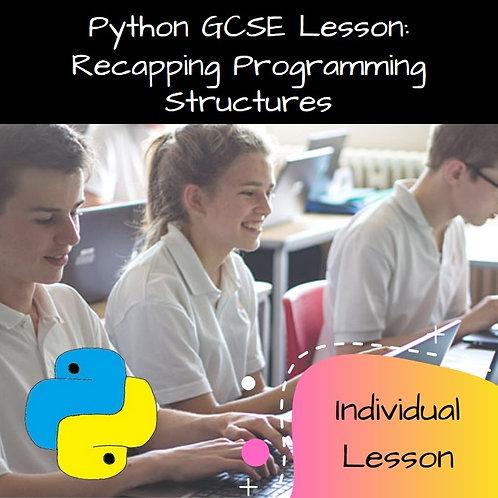 GCSE Recapping Programming Constructs