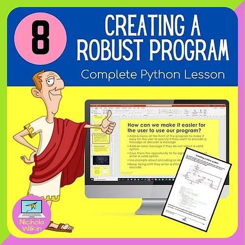08 Creating Robust Programs