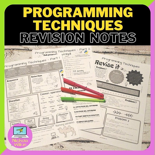 Programming Techniques Knowledge Organiser