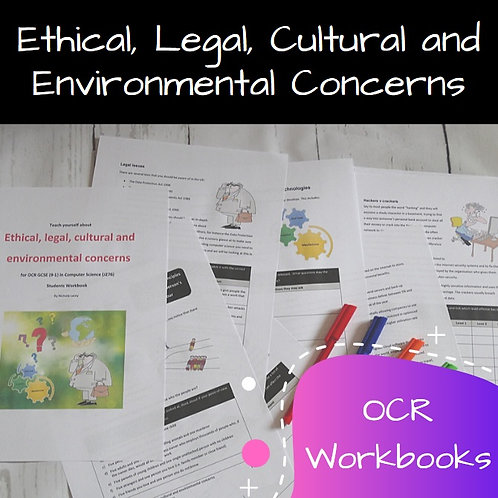 OCR Ethical, Legal, Cultural and Environmental Concerns Workbook