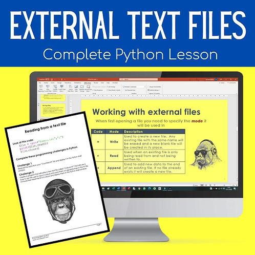 Python Text Files (GCSE Computer Science Python)