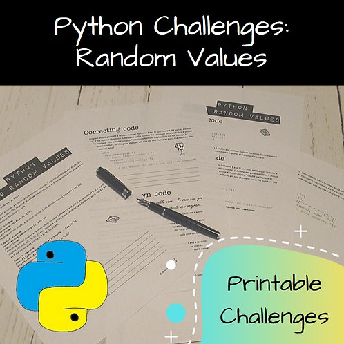 Random Values Printable Challenges
