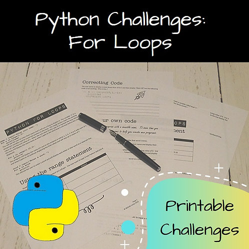 For Loops Printable Challenges
